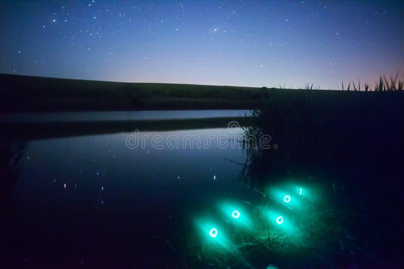 Αλιεία νύχτας στοκ φωτογραφία με δικαίωμα ελεύθερης χρήσης