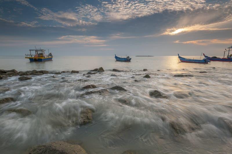 Αλιευτικά σκάφη στην απαγόρευση Pecah Perak Μαλαισία Tanjung Piandang @ στοκ φωτογραφία με δικαίωμα ελεύθερης χρήσης