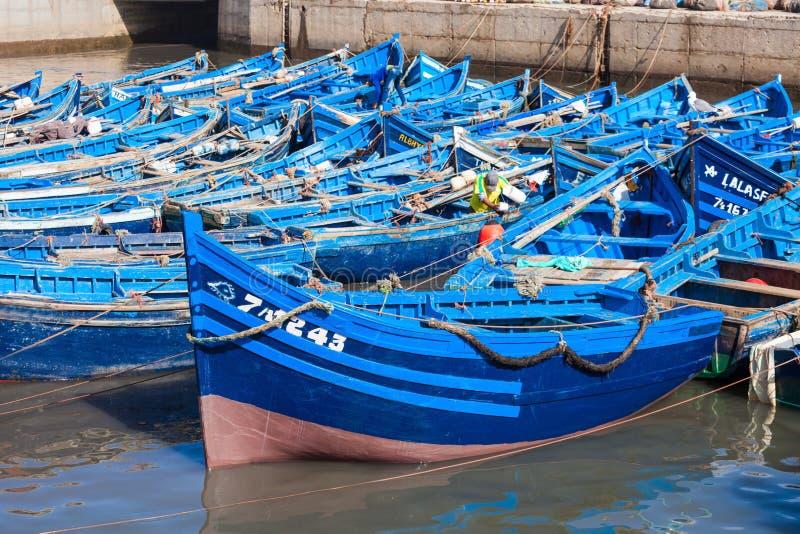 Αλιευτικά σκάφη, Essaouira στοκ φωτογραφία με δικαίωμα ελεύθερης χρήσης