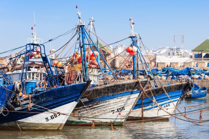 Αλιευτικά σκάφη, Essaouira στοκ εικόνες