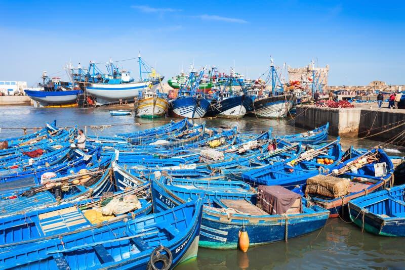 Αλιευτικά σκάφη, Essaouira στοκ φωτογραφία