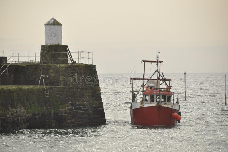 Αλιευτικό πλοιάριο σε Pittenweem Fife Σκωτία UK στοκ εικόνες με δικαίωμα ελεύθερης χρήσης