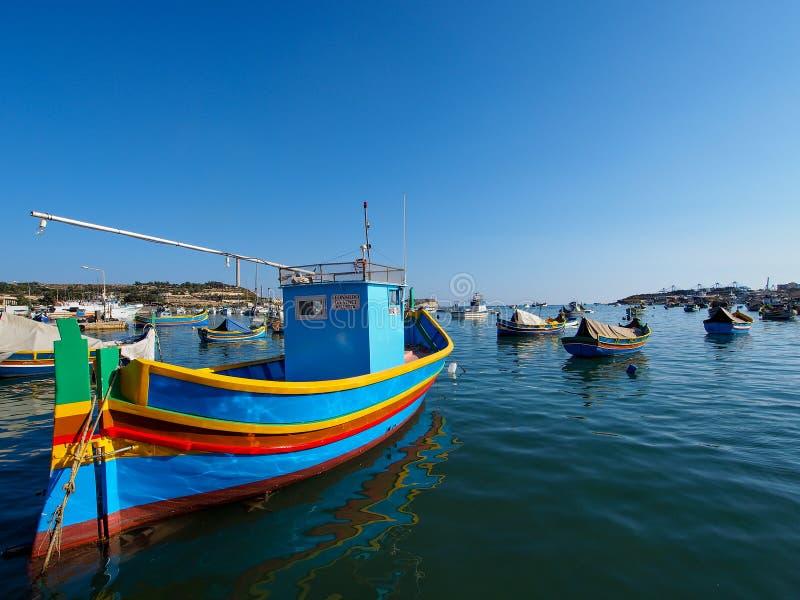 Αλιευτικό σκάφος σε Marsaxlokk στοκ φωτογραφία με δικαίωμα ελεύθερης χρήσης