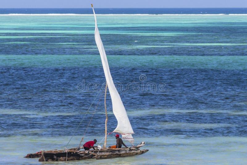 Αλιευτικό σκάφος σε Zanzibar στοκ εικόνα