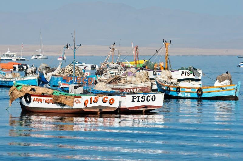 Αλιευτικό σκάφος στο εθνικό πάρκο Paracas Περού στοκ εικόνες