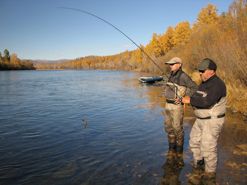 Αλιεύοντας οδηγός στοκ εικόνα