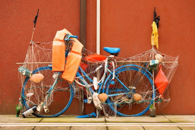 Αλιεύοντας το ποδήλατο - Caorle Ιταλία στοκ φωτογραφίες με δικαίωμα ελεύθερης χρήσης
