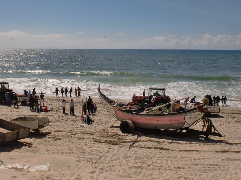 Αλιεύοντας Praia de Vieira, Πορτογαλία στοκ εικόνες με δικαίωμα ελεύθερης χρήσης