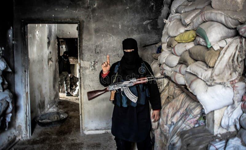 Αλ Κάιντα στη Συρία στοκ εικόνες