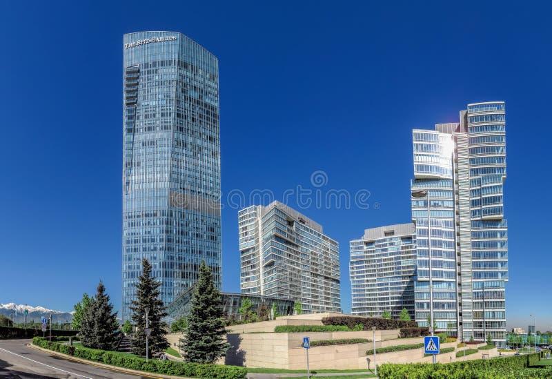 Αλμάτι - ο πύργος Ritz Carlton - πανόραμα στοκ εικόνα με δικαίωμα ελεύθερης χρήσης