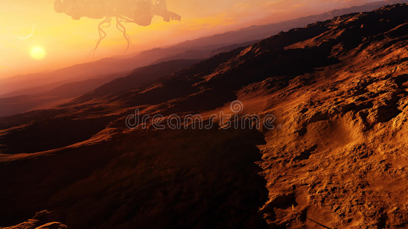 Αλλοδαπή έννοια πλανητών ερήμων ελεύθερη απεικόνιση δικαιώματος