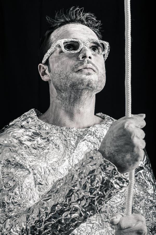 Αλλοδαπός με το σχοινί στοκ φωτογραφία με δικαίωμα ελεύθερης χρήσης