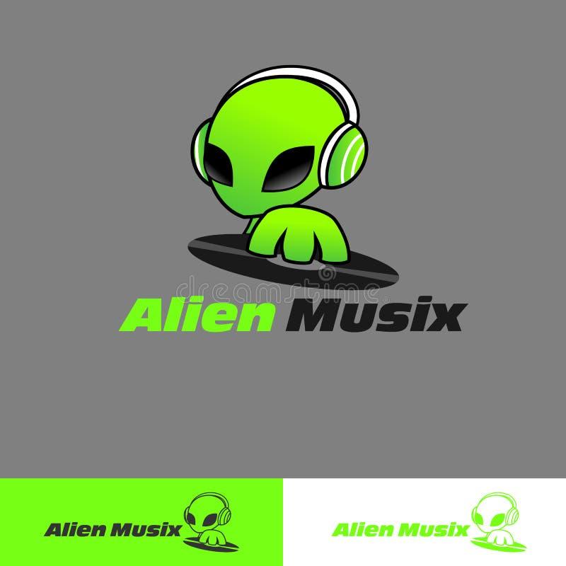 Αλλοδαπό λογότυπο Musix διανυσματική απεικόνιση