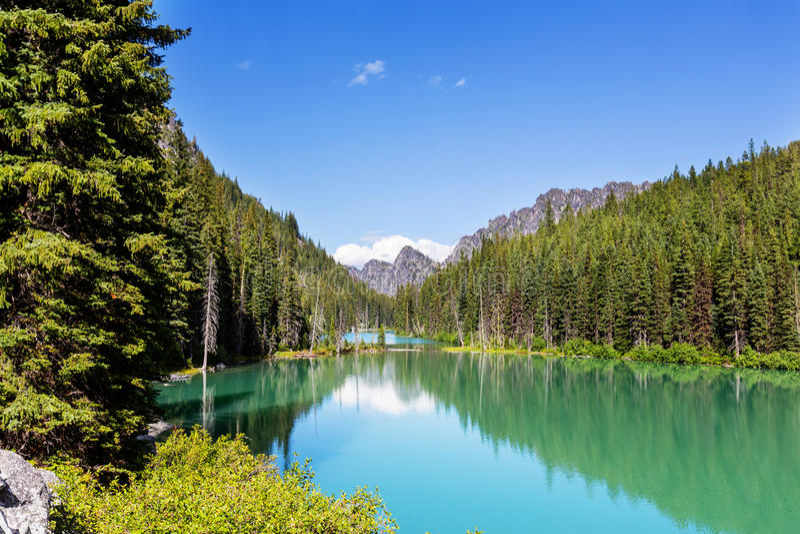 αλπική λίμνη στοκ φωτογραφίες