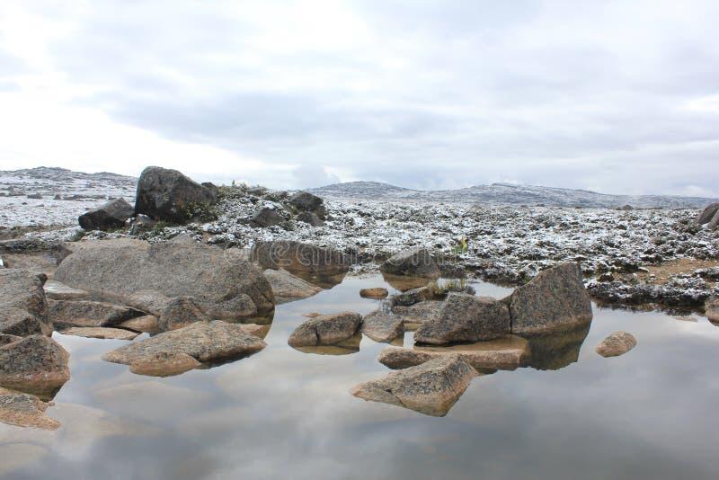 αλπικοί παγετώνας και νερό στοκ εικόνες με δικαίωμα ελεύθερης χρήσης