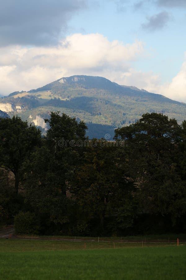Αλπικό βουνό στο Μοντρέ στοκ εικόνα με δικαίωμα ελεύθερης χρήσης