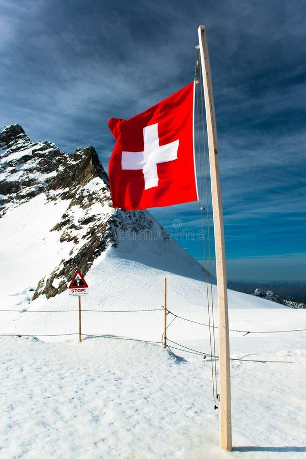 Αλπικό τοπίο βουνών Άλπεων σε Jungfraujoch στοκ εικόνες με δικαίωμα ελεύθερης χρήσης