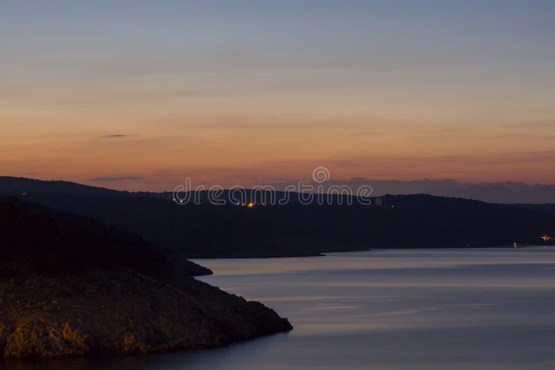 αδριατικό ηλιοβασίλεμα στοκ εικόνες