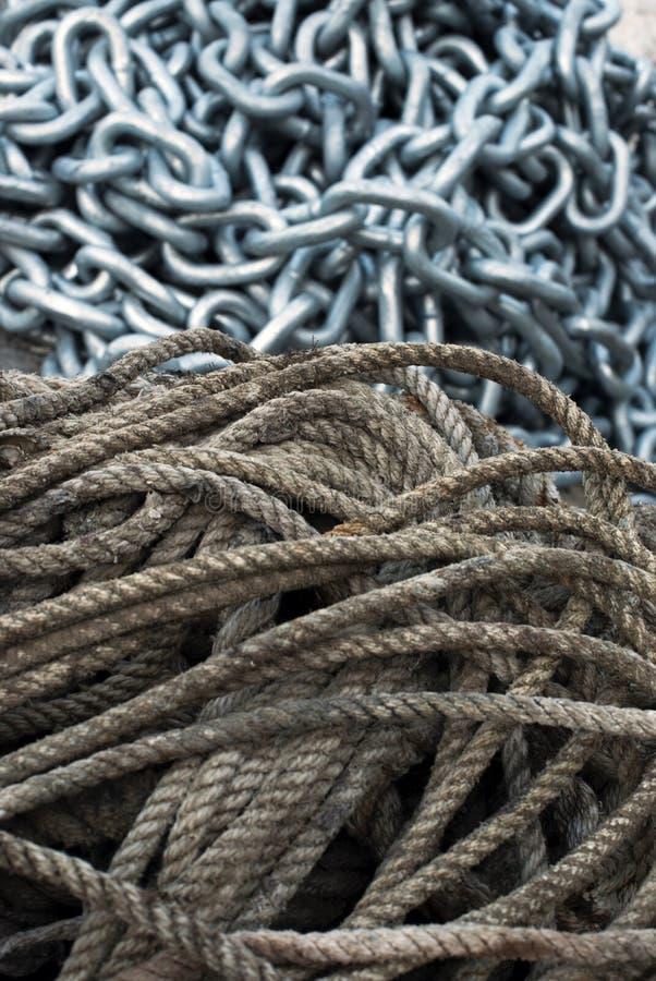 Αλυσίδα σχοινιών στοκ εικόνα