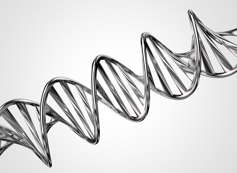 Αλυσίδα DNA μετάλλων απεικόνιση αποθεμάτων