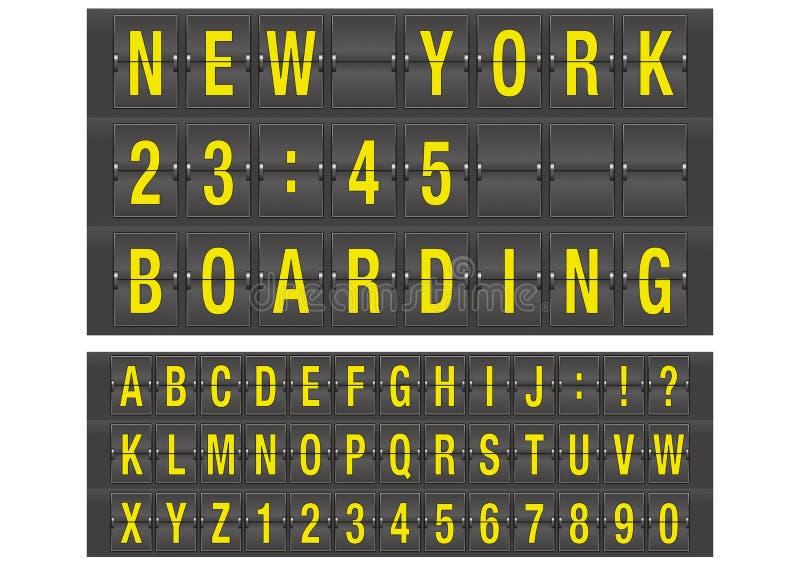 Αλφάβητο αερολιμένων διανυσματική απεικόνιση