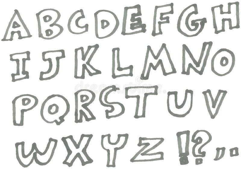 Αλφάβητο δεικτών ελεύθερη απεικόνιση δικαιώματος