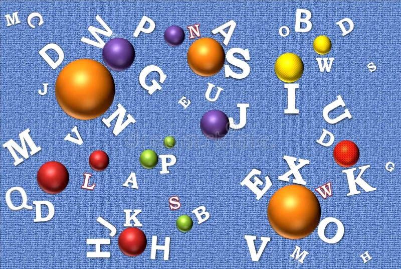 αλφάβητο λευκό επιστολών απεικόνιση αποθεμάτων