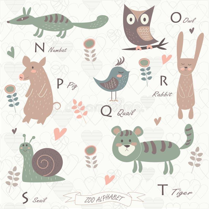 Αλφάβητο ζωολογικών κήπων απεικόνιση αποθεμάτων