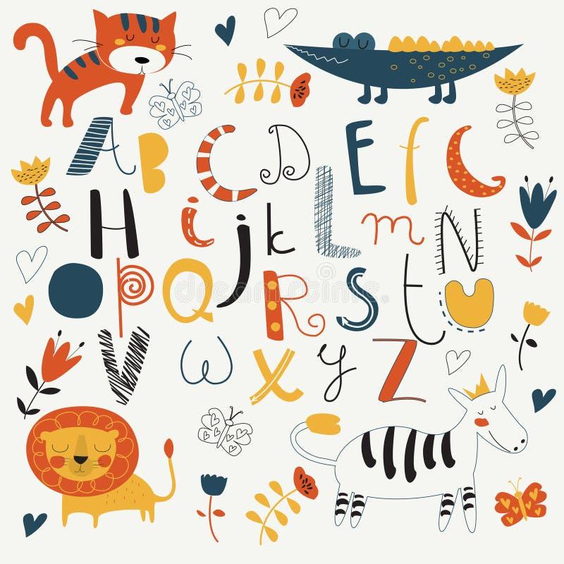 Αλφάβητο ζωολογικών κήπων διανυσματική απεικόνιση