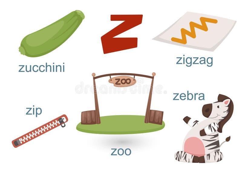 αλφάβητο ζ απεικόνιση αποθεμάτων