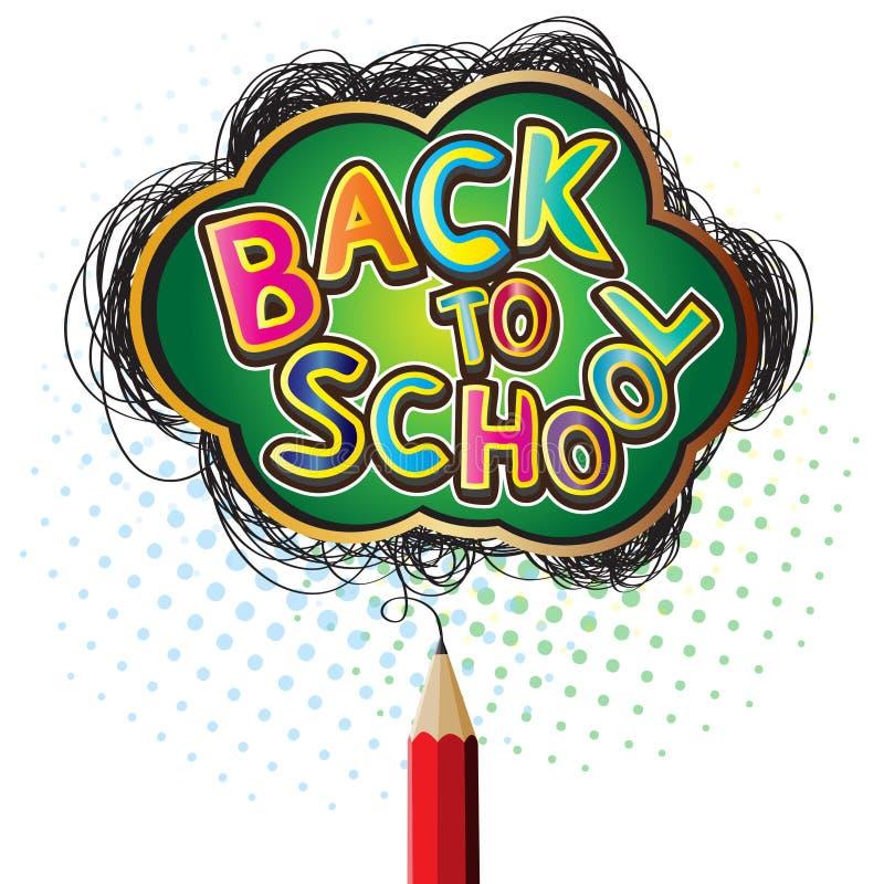 Αλφάβητο πίσω στα εικονίδια σχολικού σχεδίου με το σχέδιο μολυβιών ελεύθερη απεικόνιση δικαιώματος