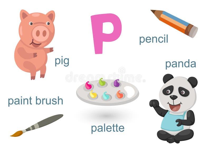 Αλφάβητο Π απεικόνιση αποθεμάτων
