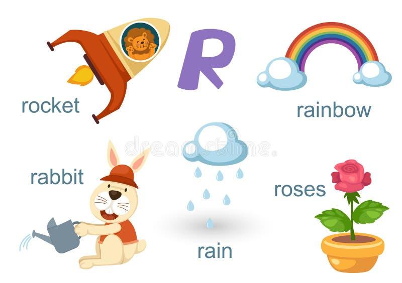 αλφάβητο ρ απεικόνιση αποθεμάτων