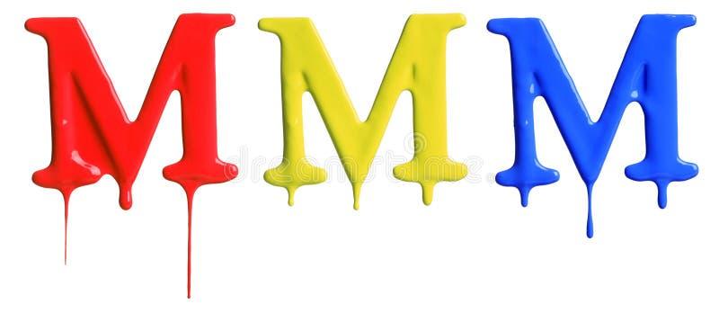 Αλφάβητο σταλάγματος χρωμάτων στοκ φωτογραφία με δικαίωμα ελεύθερης χρήσης