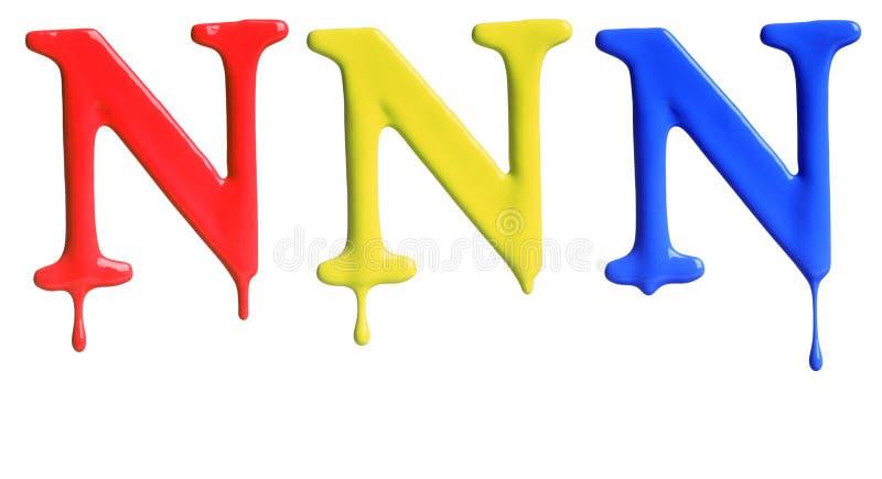 Αλφάβητο σταλάγματος χρωμάτων στοκ εικόνες με δικαίωμα ελεύθερης χρήσης