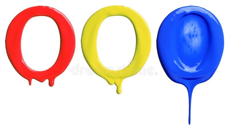 Αλφάβητο σταλάγματος χρωμάτων στοκ εικόνα με δικαίωμα ελεύθερης χρήσης