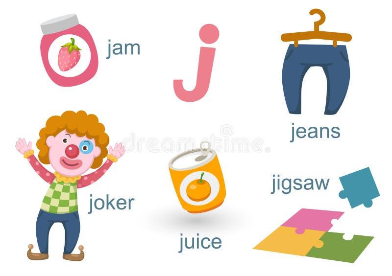 αλφάβητο j διανυσματική απεικόνιση