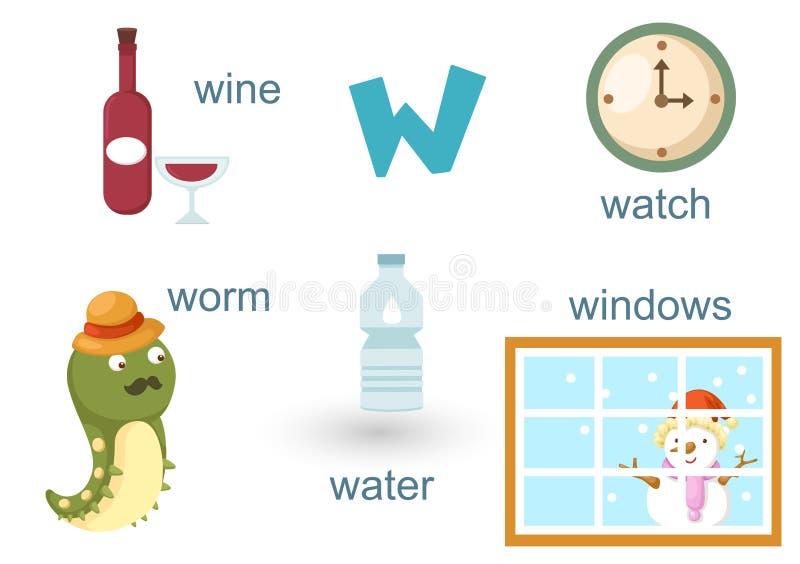 Αλφάβητο W απεικόνιση αποθεμάτων