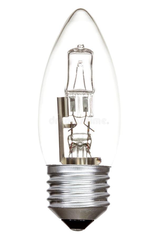 Αλόγονο lightbulb στο λευκό στοκ φωτογραφία με δικαίωμα ελεύθερης χρήσης