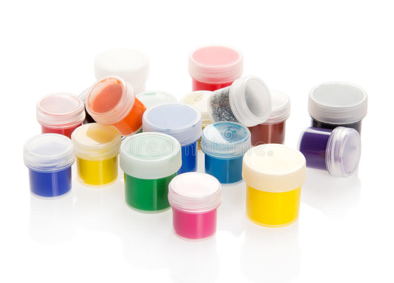 Βάζα με το χρώμα, τυχαία που στέκεται στοκ φωτογραφίες με δικαίωμα ελεύθερης χρήσης