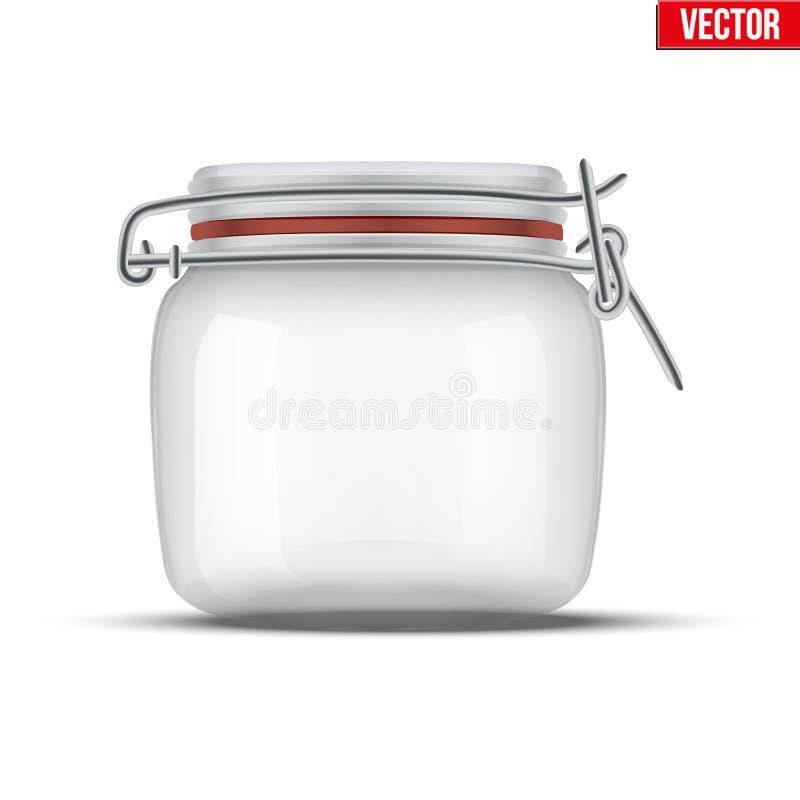 Βάζο γυαλιού για την κονσερβοποίηση και τη συντήρηση διανυσματική απεικόνιση