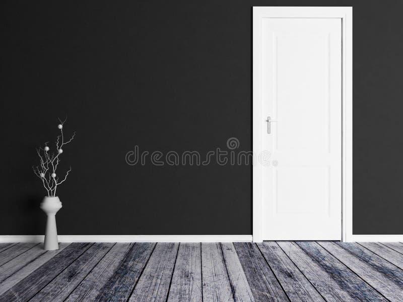Βάζο κοντά στην πόρτα ελεύθερη απεικόνιση δικαιώματος