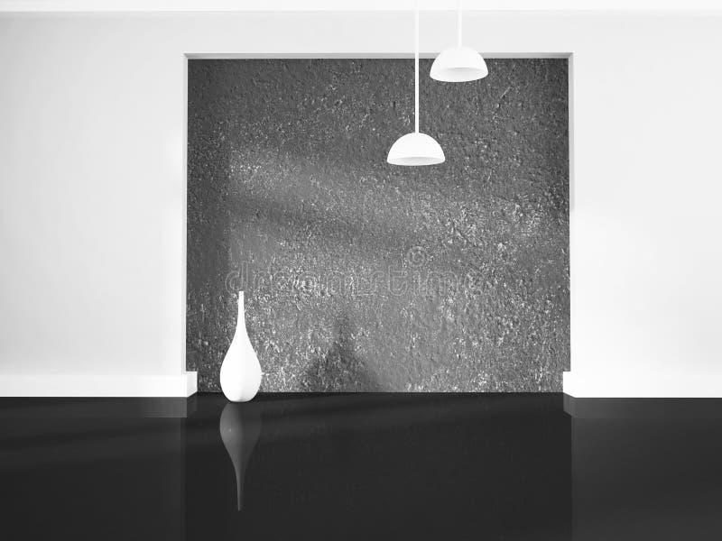 Βάζο κοντά στον τοίχο, τρισδιάστατο απεικόνιση αποθεμάτων