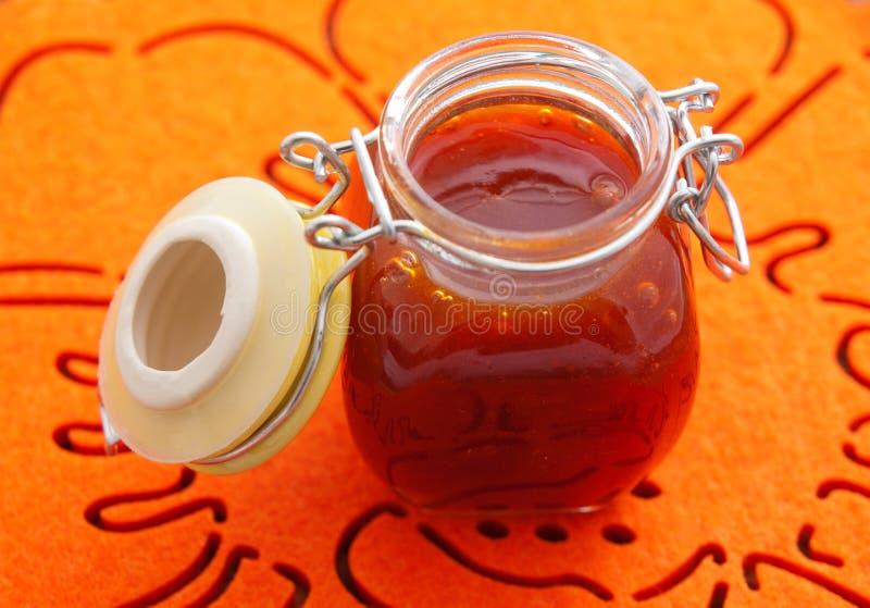 Βάζο με τη μαρμελάδα φρούτων στοκ φωτογραφίες με δικαίωμα ελεύθερης χρήσης