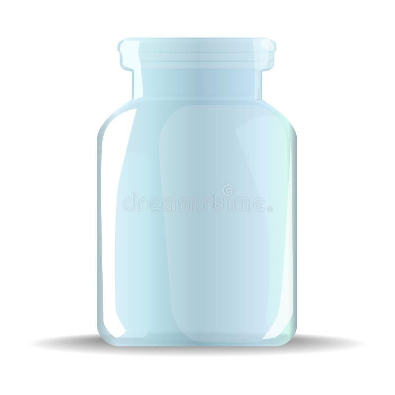 βάζο πίνακας γυαλιού δημητριακών καφέ απεικόνιση αποθεμάτων
