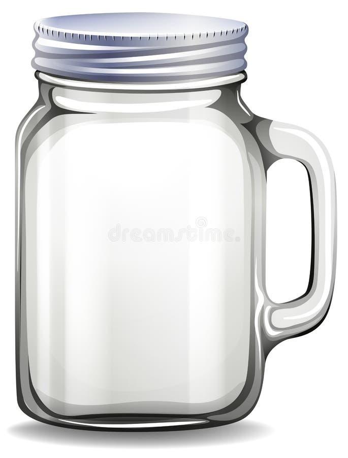 βάζο πίνακας γυαλιού δημητριακών καφέ διανυσματική απεικόνιση