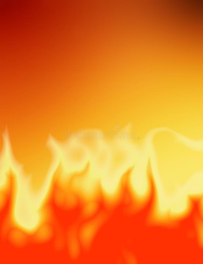 βάλτε φωτιά στις άγρια περιοχές διανυσματική απεικόνιση