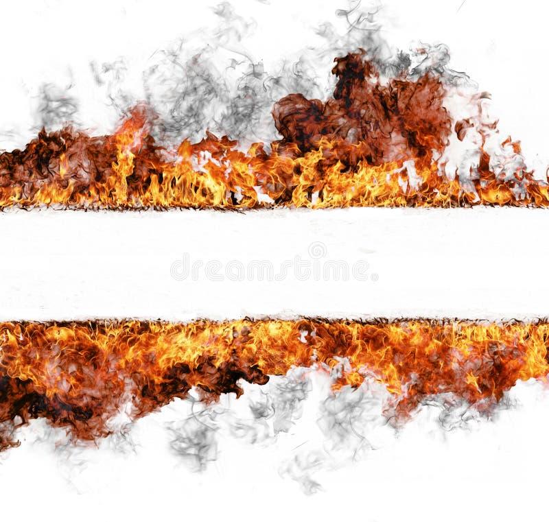 βάλτε φωτιά στο λωρίδα διανυσματική απεικόνιση