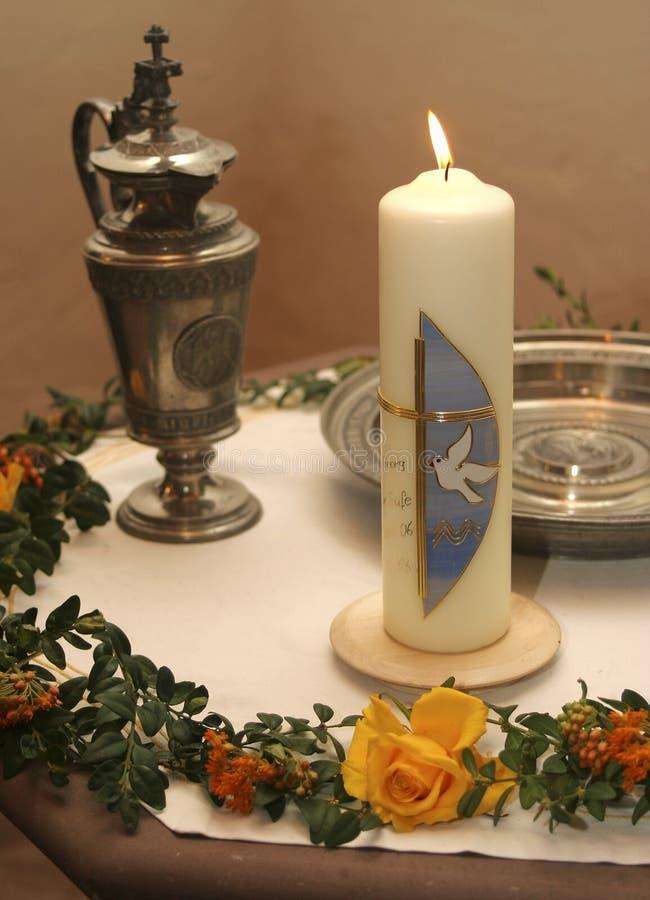 βάπτισμα κεριών στοκ φωτογραφία με δικαίωμα ελεύθερης χρήσης