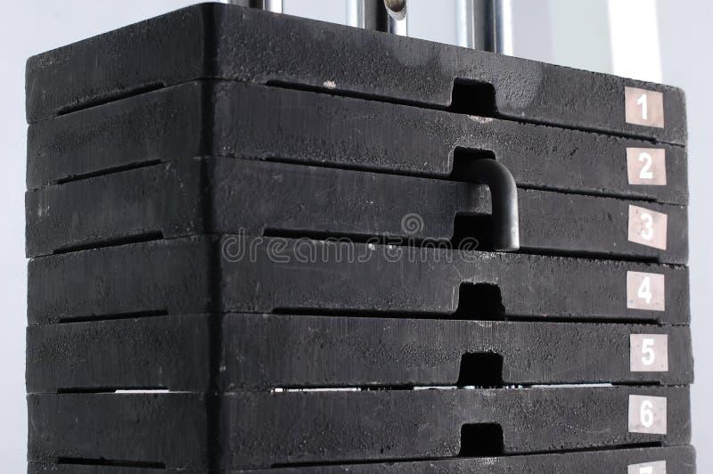 βάρη στοιβών γυμναστικής στοκ εικόνες με δικαίωμα ελεύθερης χρήσης